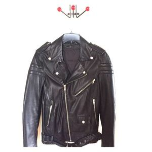 BLK DNM lambskin leather moto jacket